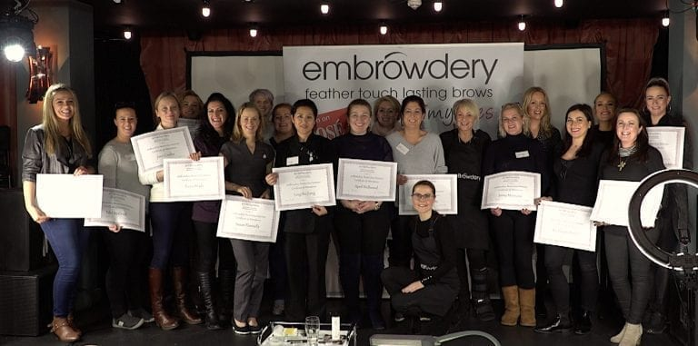 emBrowdery™ graduation @ Up To My Eyes Academy